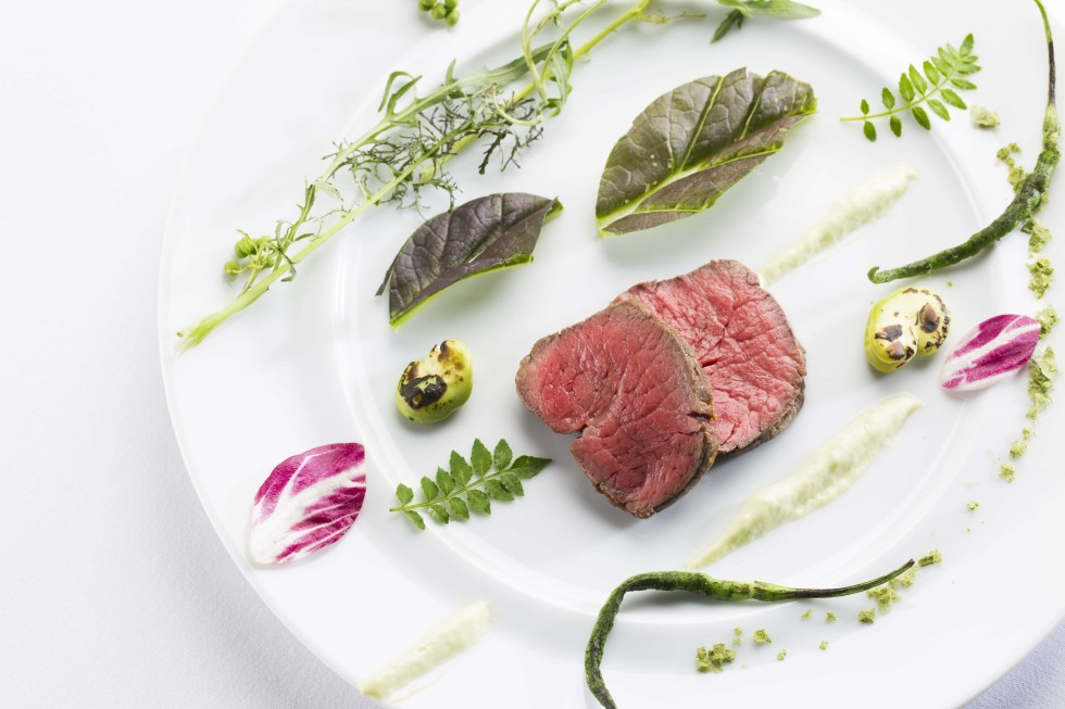 お肉とサラダ_5573
